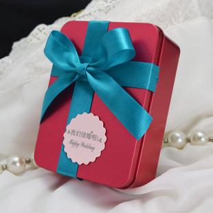 欧式撞色长方形大号 可装烟 大码喜糖盒 铁盒子
