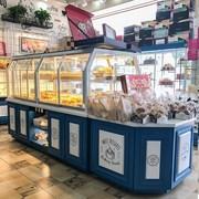 面包柜展示柜实木铁艺货架陈列柜定制中岛精品货架玻璃商用中岛柜