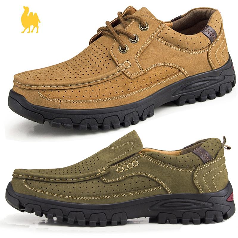 户外休闲鞋磨砂皮
