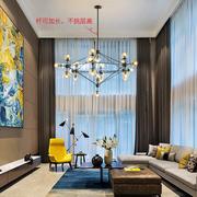 魔豆吊灯家用艺术客厅餐厅现代简约创意网红吊灯玻璃圆球黑色磨豆