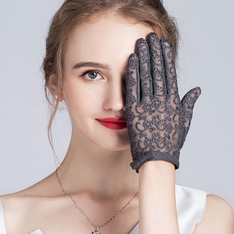 女士短款皮手套