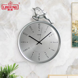 Lisheng Nordic light luxury deer wall clock living room clock bedroom quiet contracted fashion creative personality clock