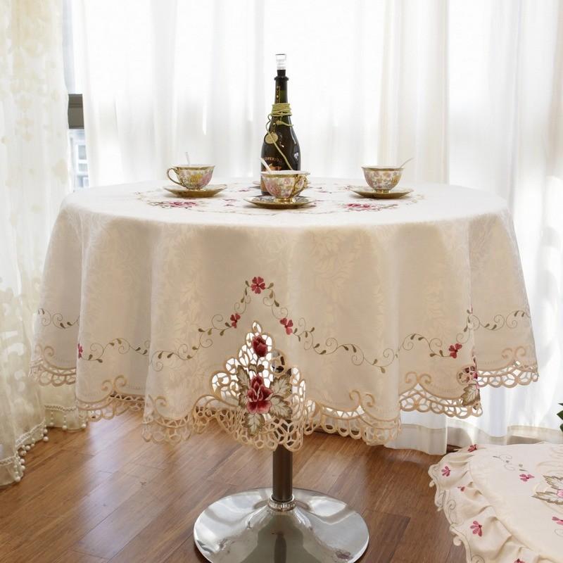 奢华欧式圆桌布布艺欧式餐桌布椅套椅子套 正方形圆台布圆茶几布1元优惠券