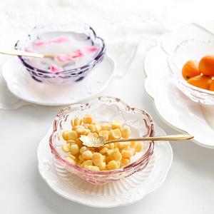 欧式桃心浮雕小碗 创意复古水果甜品点心碗