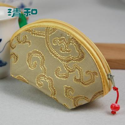 清和中国风 古筝指甲包 拉链元宝形 古筝指甲胶布收纳 颜色随机排行