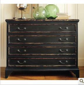 美式乡村 实木家具 简约 抽屉柜 定制定做 四斗柜 松木 简约 田园