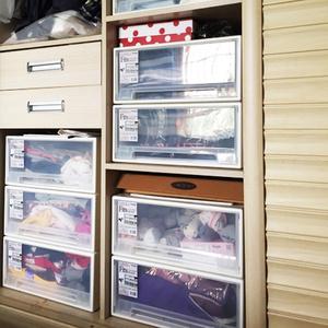 天马收纳箱衣柜收纳盒抽屉式衣物塑料整理箱衣服透明收纳抽屉柜子