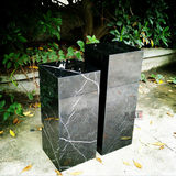 Abstract sculpture floor-to-ceiling hotel decoration slab black and white root marble base base