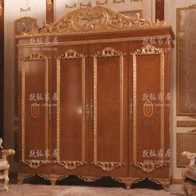 欧式宫廷奢华衣柜 法式四门衣柜 意大利奢华大衣橱 美式别墅衣柜