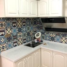 厨房防油墙纸自粘卫生间浴室客厅腰线贴田园瓷砖墙贴纸防水耐高温