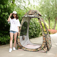 Fully automatic outdoor fishing 1 person single rainproof windproof rope fishing umbrella fish tent shelter