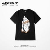 T恤潮流男胖子夏季衣服男女 HIPHOP摇滚嘻哈短袖 港风大码 街头个性