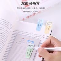 Deli 0,058 label paper clip metal material bookmark file sorting classification can be double-sided writing color pin