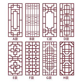 中式边角装饰墙贴纸 中国风复古包邮边框花纹玻璃窗格店铺窗花贴