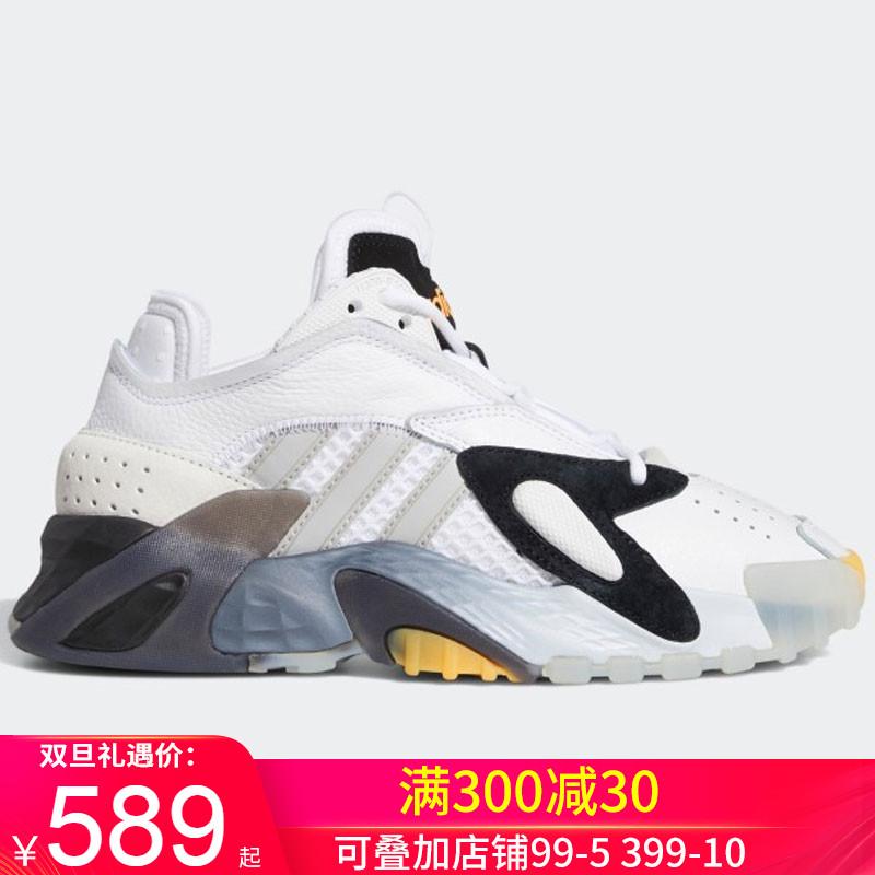 阿迪达斯女鞋运动鞋三叶草Streetball潮鞋复古老爹鞋跑步鞋EE8303