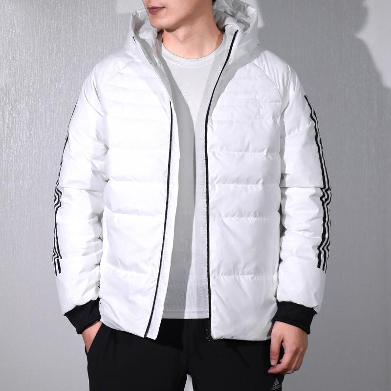 阿迪达斯NEO男子棉服2018冬季新款加厚保暖运动休闲羽绒服DM2197