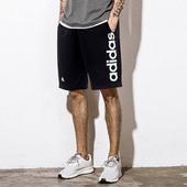 阿迪达斯男裤2018夏季新款运动休闲速干透气跑步短裤五分裤BS5026