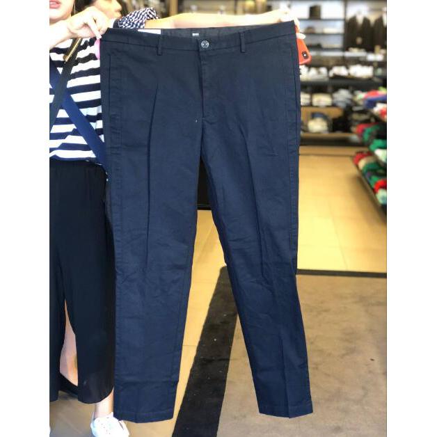 18秋季新款 HUGO BOSS 男士纯色简约直筒舒适休闲长裤