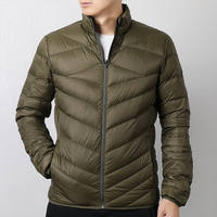 Hummer down jacket male 2018 winter sports and leisure collar short short coat