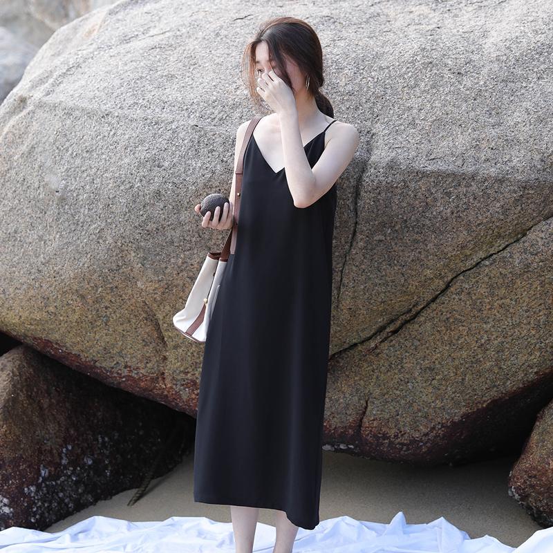 春中长打底直筒裙