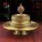 七宝曼扎盘纯铜佛教用品八吉祥精美雕刻藏传佛教用品曼茶罗大号