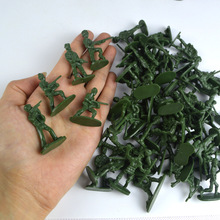 A Static Soldier Model of 100 Soldiers'Military Regiment World War II Toy Soldiers' Suit of Children's Toys