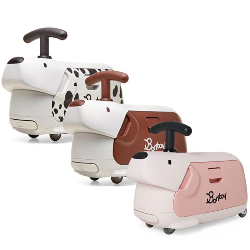韩国Bontoy儿童行李箱可坐可骑行多功能滑步车扭扭车静音可登机