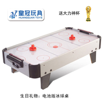 Crown childrens ice hockey table air table hanging ice hockey machine toy hockey table birthday gift 61
