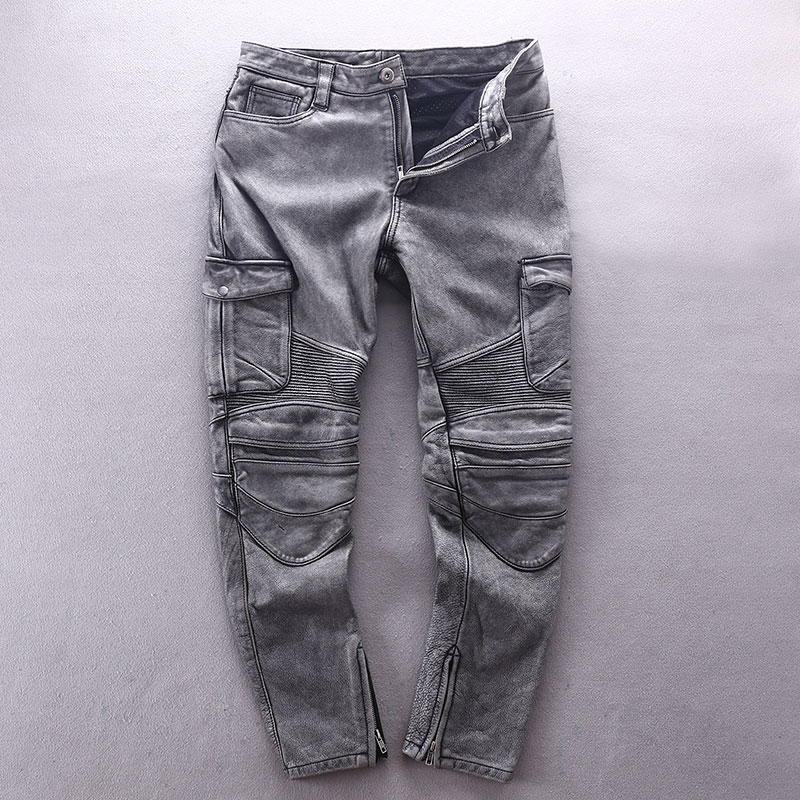 Кожаные брюки Артикул 598493575927