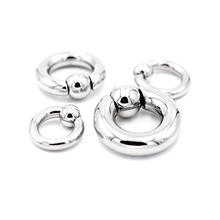 2.08.0mm粗款钛钢卡球环唇环耳环乳环阴环多用环pa刺环穿刺饰品