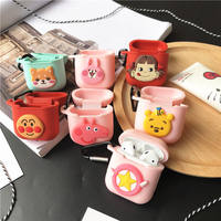 Apple wireless Bluetooth headset protector airpods silicone sleeve anti-lost hook cartoon cute men and women models