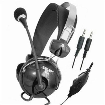 声籁 V81 电脑3.5mm头戴护耳式 有线手机普通耳机 语音耳机