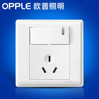 Op lighting 86 type 16A air conditioning power supply one open control home lamp wall with switch three hole socket panel G