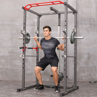 Professional safety box squat rack fitness multifunctional weight bench bed bench barbell gantry trainer male