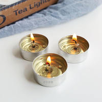 50 capsules 1 grain burning 3.5-4 hours base special glass insulation smokeless candle tea wax 14 g