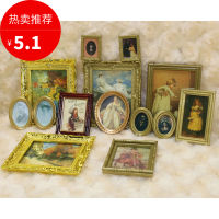 1:12 doll house accessories dollhousu food play model hand-made mural series ten into 62061
