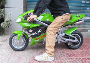 15新款步阳二代迷你摩托车跑车中型小跑车公路赛无级变速电子打火
