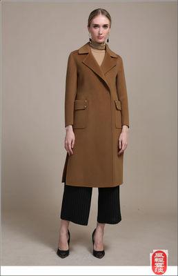 97%羊毛 春冬女装专柜正品长款毛呢外套双面呢羊绒大衣品牌折扣