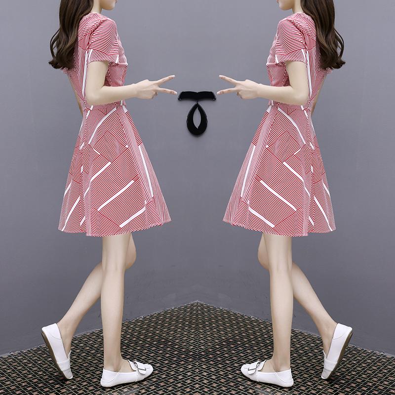 红+裙+夏装