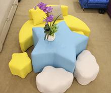 新款卡通儿童沙发桌子座椅组合套装小公主可爱凳子可拆洗布艺沙发