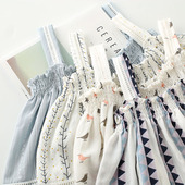 小清新文艺t恤学生可爱甜美 短袖 日系森女显瘦一字领露肩 夏季新款
