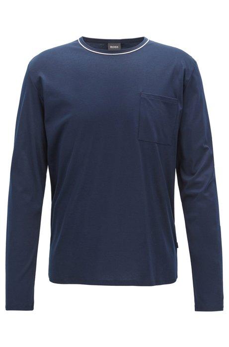 正品Hugo Boss雨果波士 男士保暖舒适圆领长袖睡衣上装50392323