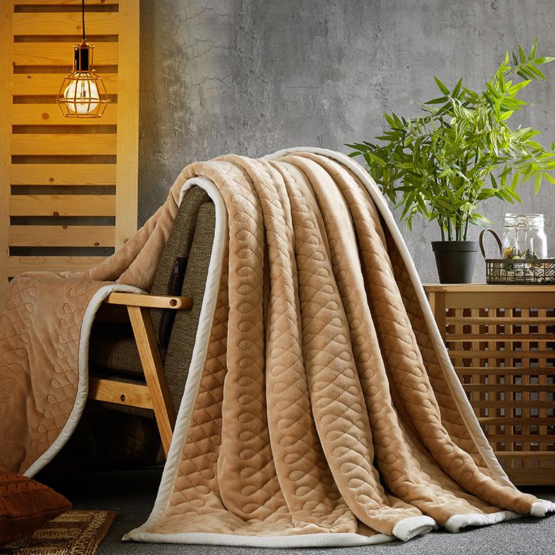 冬季加厚毛毯复合绒毯 保暖休闲毯子法莱绒单人双人盖毯1.5m2米3元优惠券