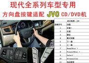 现代伊兰特名图索纳塔胜达飞思方向盘按键遥控器控制JVC主机