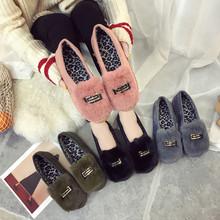 棉拖鞋女冬季居家厚底可爱毛毛鞋时尚外穿拖鞋女士防滑保暖月子鞋