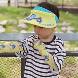 Children's net red 泫 雅 wind parent-child sunscreen ice sleeve boys and girls mesh dinosaur flower flower baby ice silk sunshade cuff