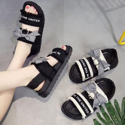夏季女土凉鞋新款天妈妈百搭学生女装的配裙子韩版中跟穿潮2018平