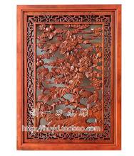 东阳木雕胡一刀客厅中式镂空仿古木格实木屏风背景墙饰玄关隔断壁