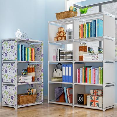 简易书架落地置物架学生桌上书柜儿童桌面小书架收纳省空间架子