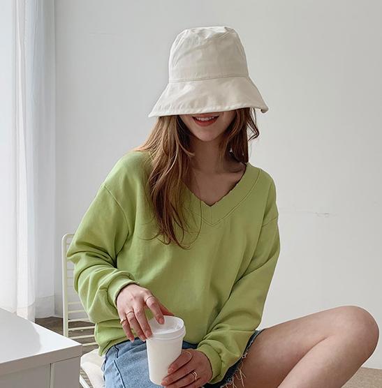 韩国官网正品代购naning9女装chic时尚百搭遮阳帽渔夫帽帽子